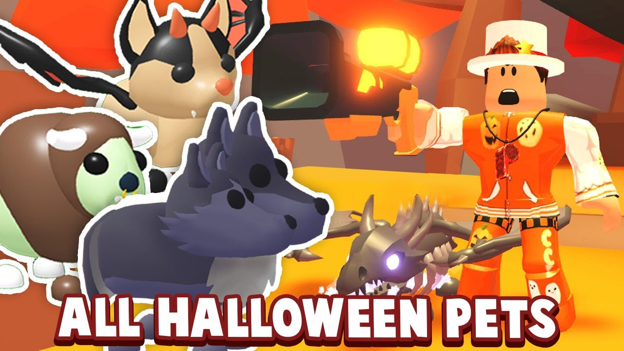 All Halloween Pets And Items In Adopt Me Adopt Me Halloween Update 2020 New Pet Youtube
