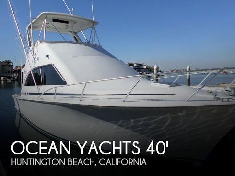 [UNAVAILABLE] Used 1999 Ocean Yachts Super Sport 40 In Huntington Beach, California