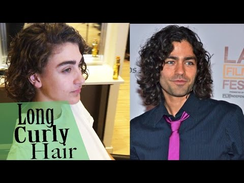 Curly look for men★ How to style Curly hair ★Long hair★ 4K