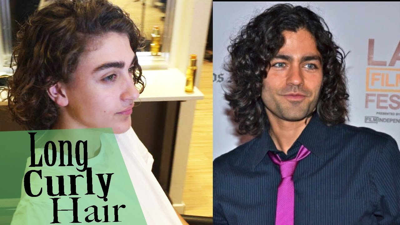 Curly Look For Men How To Style Curly Hair Long Hair 4k Youtube