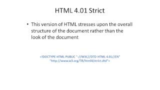 Choosing Doctype for HTML Documents