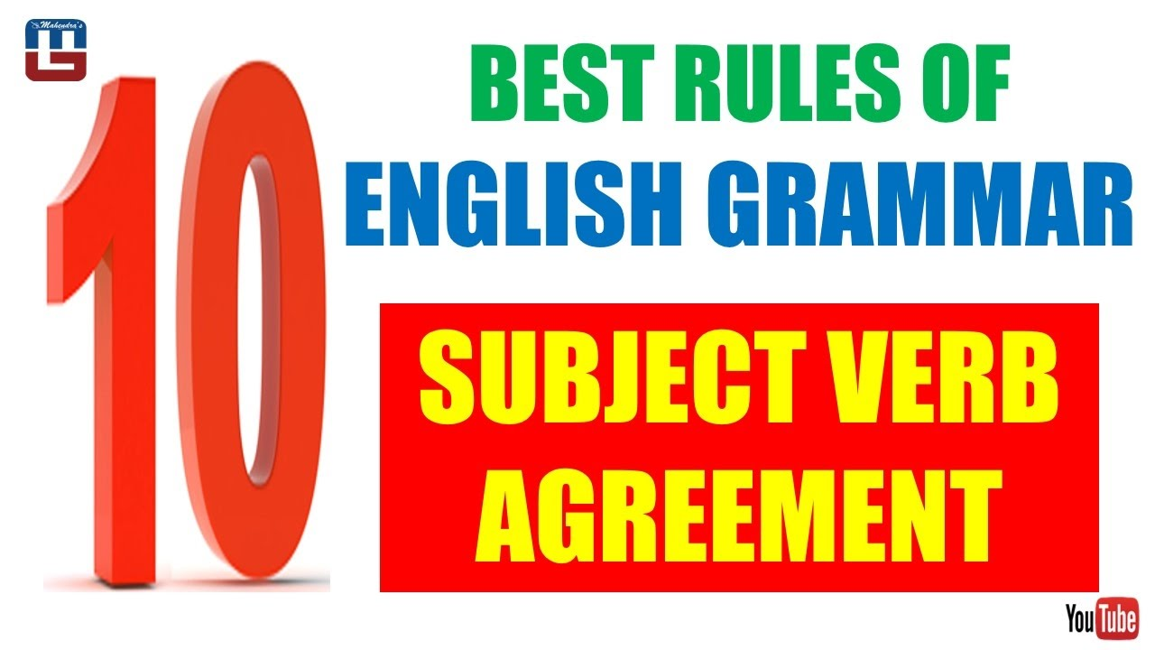 Subject Verb Agreement English All Competitive Exams Youtube