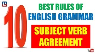 subject verb agreement   english   all competitive exams