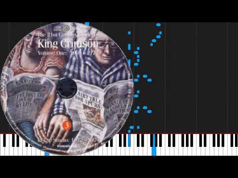 How to play 21st Century Schizoid Man (including Mirrors) by King Crimson on Piano Sheet Music