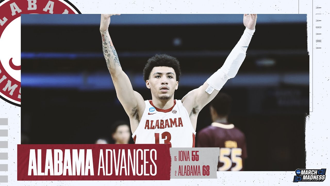 Alabama vs. Iona - First Round NCAA tournament extended highlights
