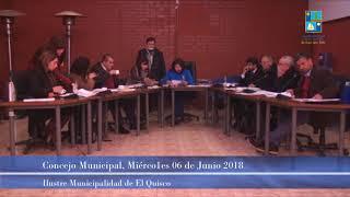 Concejo Municipal Miércoles 06 de Junio 2018 - El Quisco