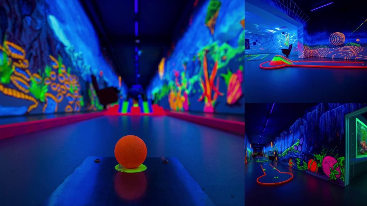 Neon minigolf duisburg