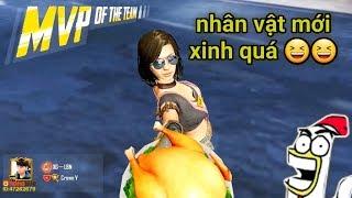 PUBG Mobile - Trải Nghiệm Sara Có Gì Ngon =))   Gái Xinh Buff Sức Mạnh Gánh Team