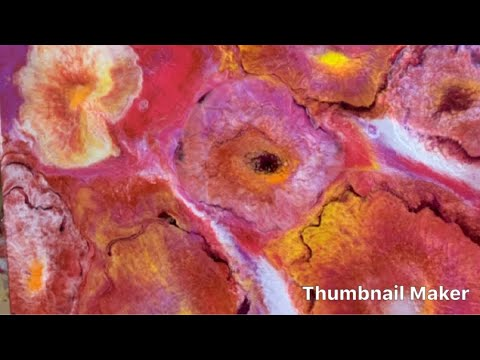 Resin Art , Painting With Epoxy Abstract Flowers