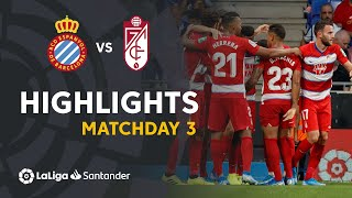 Highlights RCD Espanyol vs Granada CF (0-3)