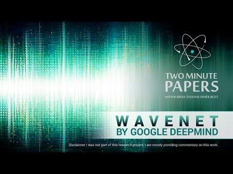 WaveNet by Google DeepMind | Two Minute Papers #93