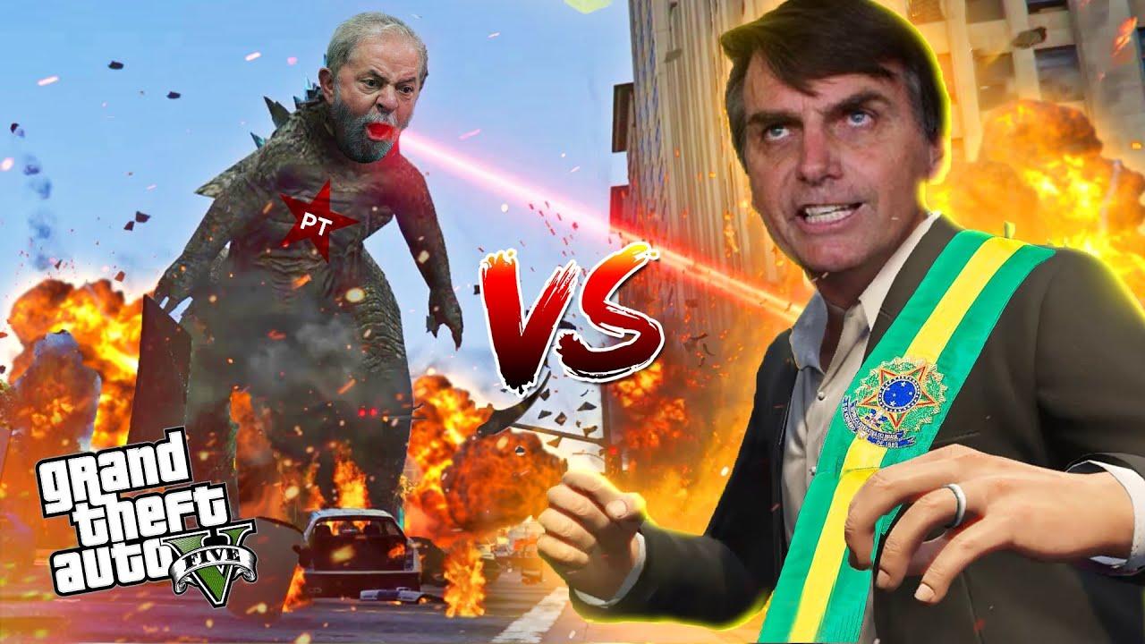 Bolsonaro vs Lula no GTA V - A batalha final do MESSIAS contra o GODZILLA comunista