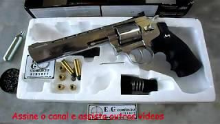 """Airgun - Revólver Dan Wesson 6"""" Pellet Silver ASG Co2 4,5mm - E&G Comércio thumbnail"""