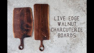 Live Edge Walnut Charcuterie/Serving Boards // Woodworking // DIY