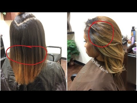 Balayage Coloring Technique On Natural Hair Stylist Lee