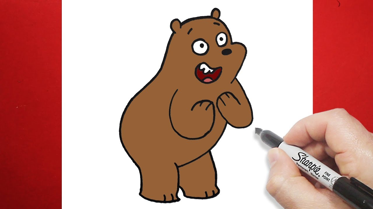 رسم شهاب بالخطوات الدببة الثلاثة تعليم الرسم للاطفال Youtube
