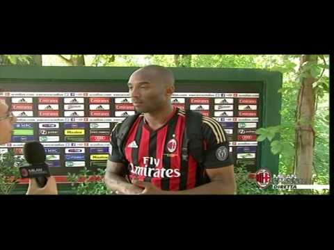 Kobe Bryant visiting Milanello Today 20-07-2013