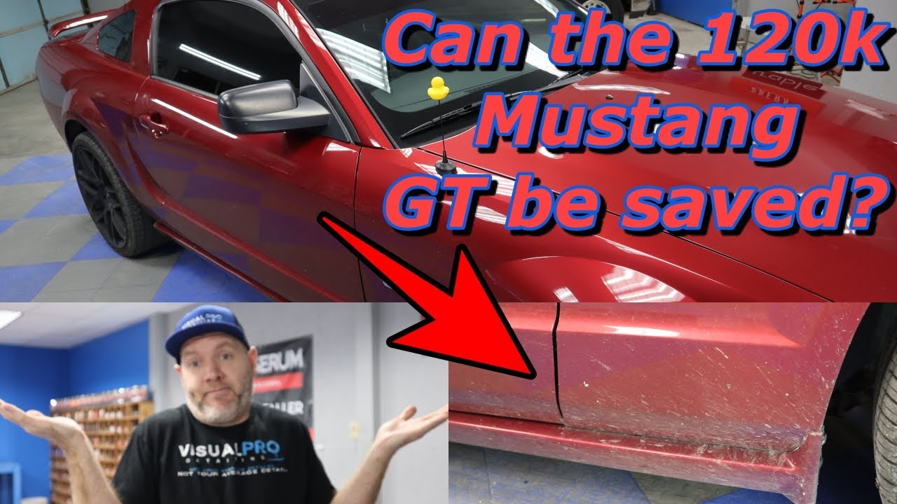 Restoring a 120k Mustang with paint polishing, detailing, and ceramic coating application.