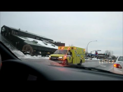 EMERGENCY VEHICLES SEEN RESPONDING IN WEST ISLAND OF MONTREAL