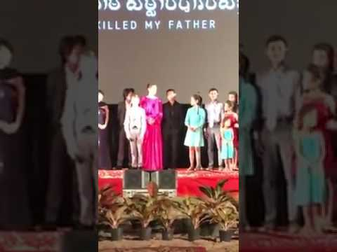 Angelina Jolie at the premiere of the film First They Killed My Father in Cambodia