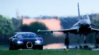 Bugatti Veyron Vs Euro Fighter Typhoon: Drag Race (HQ) - Top Gear - BBC(, 2014-07-24T09:00:02.000Z)