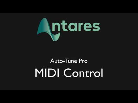 Auto Tune Pro MIDI Control Feature
