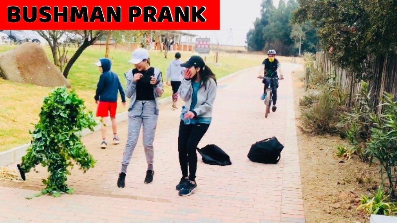 Bushman Prank - Crazy Reactions - SUPER FUNNY!!!