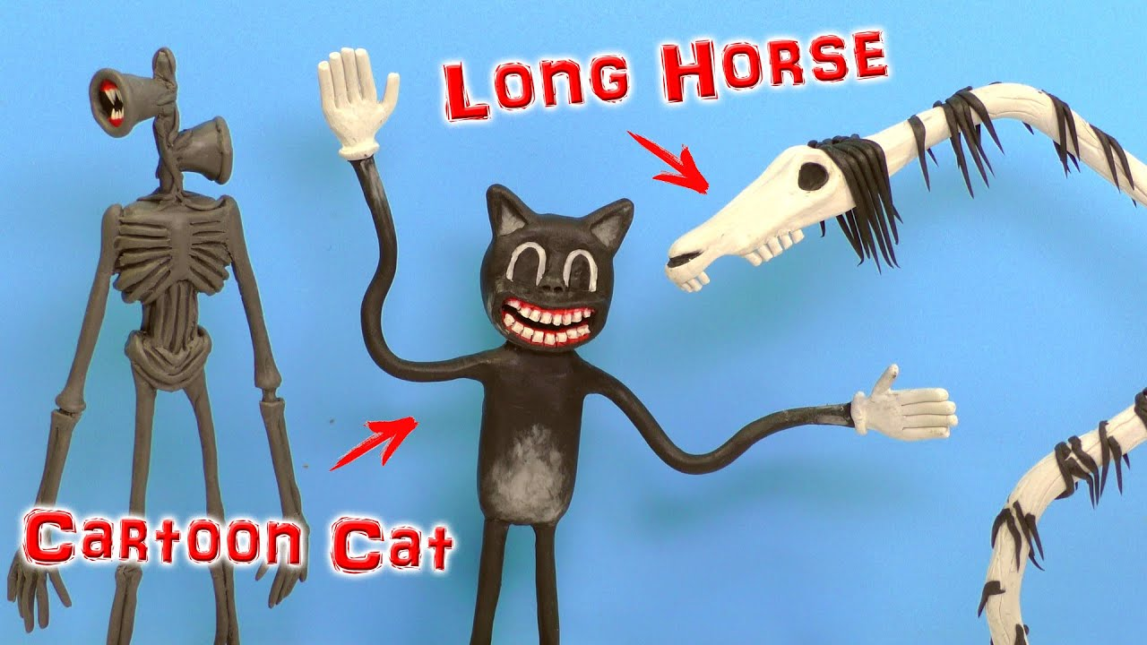 Making Cartoon Cat And Long Horse With Clay Trevor Henderson