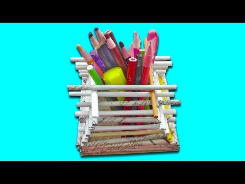 DIY: Paper Crafts idea!!! How to Make Beautiful Pen/Pencil Holder With Colour Paper!!!