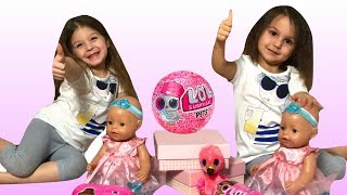 Open LOL SURPRISE TOYS  and Baby Born Birth Day Pretend play - Elya & Adelya Show