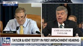 John Ward Jim Jordan Ends Ambassador Taylor's Career (Impeachment Part 1)