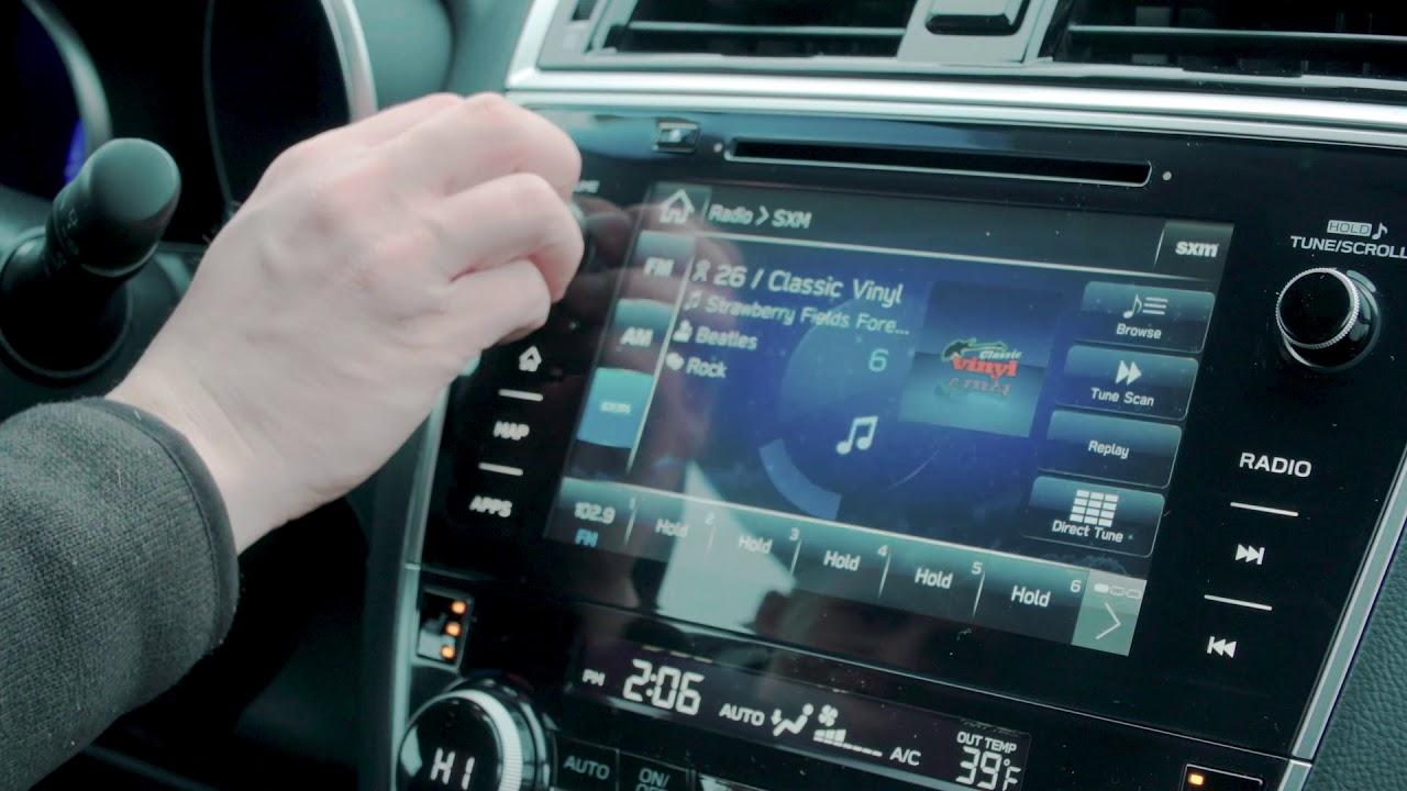 Subaru Legacy: How to preset stations