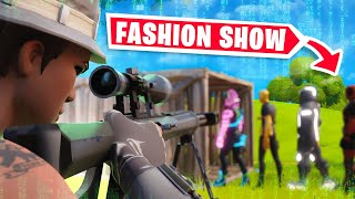 STREAM SNIPING FASHION SHOWS FOR 48 HOURS STRAIGHT
