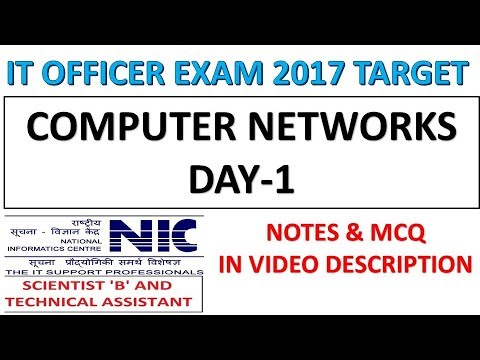 Computer Networks Day-1 Preparation For IT Officer|NIELIT|Scientific Assistant Exam 2017