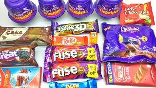Dairy Milk Lickables, Cadbury Eclairs, Lotte choco pie, Tic Tac, Perk Unboxing only Full HD