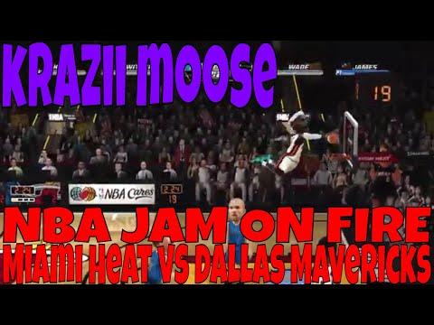 NBA JAM ON FIRE Miami Heat vs Dallas Mavericks