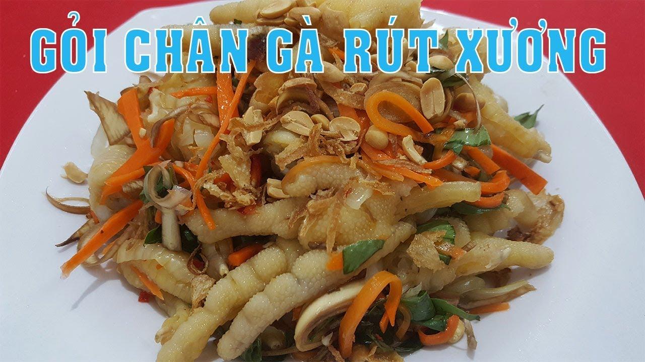 Cách làm GỎI CHÂN GÀ RÚT XƯƠNG ngon giòn ăn sẽ thích ngay – Hồng Thanh Food