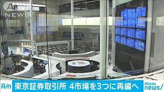 東証4市場を3つに再編へ 1部は「プライム」(19/12/25)