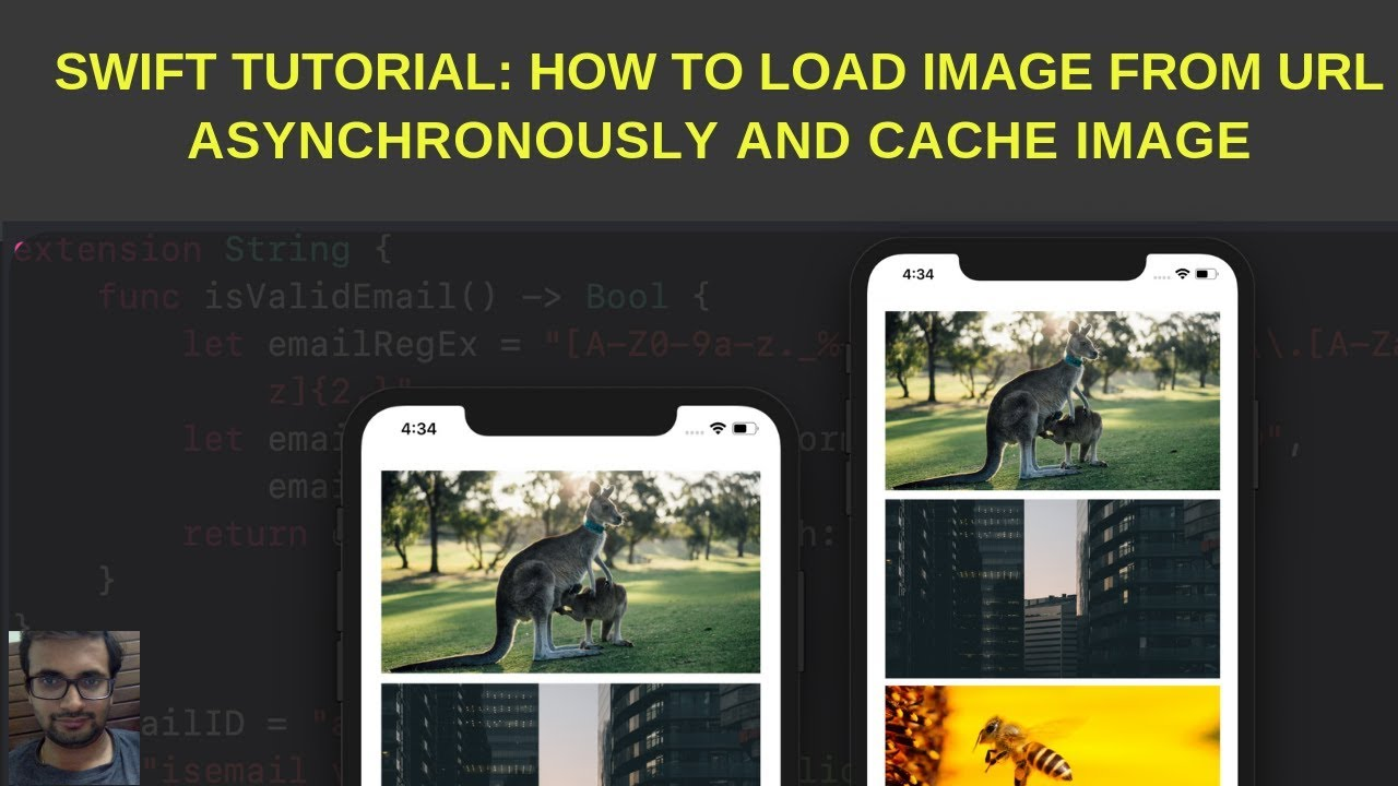 Swift Tutorial:- Load image from URL in swift using Kingfisher library in  swift