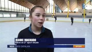 Une journée avec les patineuses de sport étude de Font Romeu