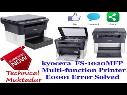 Kyocera FS 1020 MFP Multi Function Printer E0001 Error Code