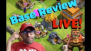 🔵 Clash of Clans Base Reviews Ep. 23   What Happen - Live Stream