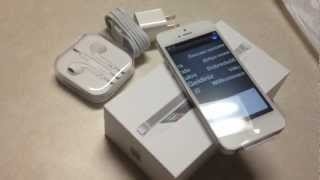 iPhone 5 Unboxing 32GB White