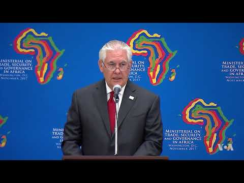 Tillerson: US Seeks to Unlock the Potential of a Growing African Continent