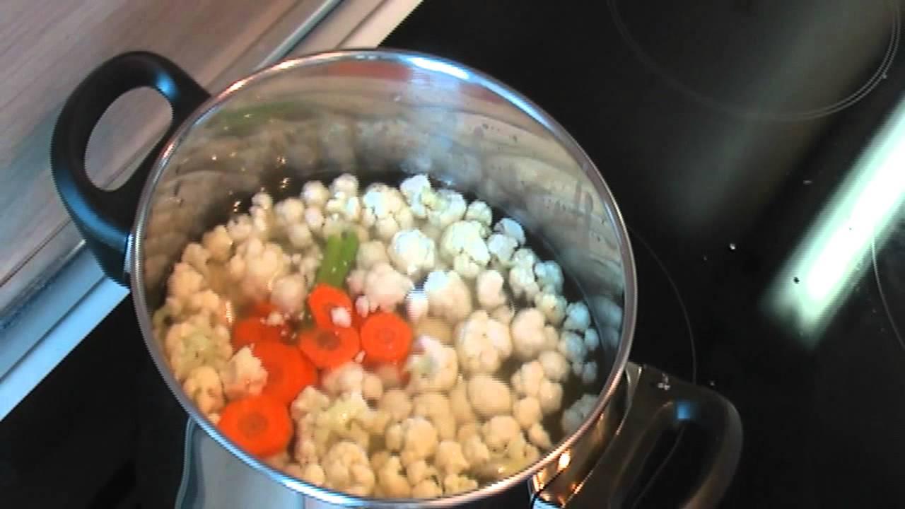 Суп с цветной капустой видео рецепт. Книга о вкусной и здоровой пище