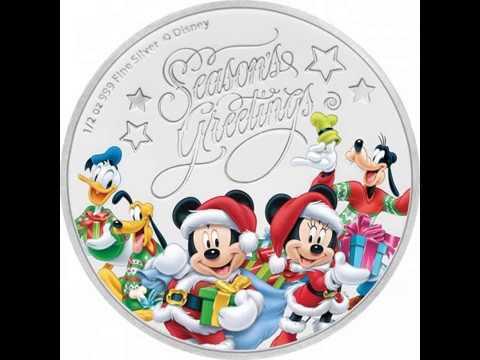 Weihnachtsgrüße Disney.Walt Disney Niue 1 Dollar Silber Weihnachtsgruesse Merry Christmas Proof