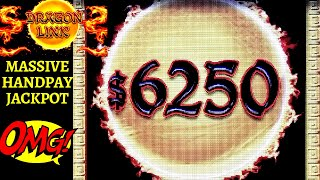High Limit Dragon Link MASSIVE HANDPAY JACKPOT !! Lightning Link VS Dragon Link