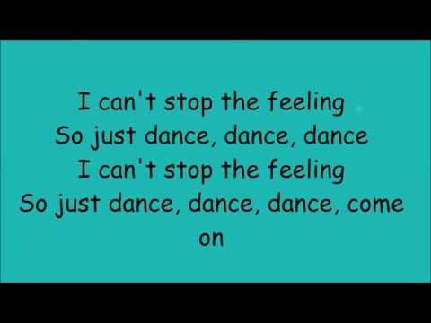 Cant stop the feeling  Justin Timberlake  lyrics