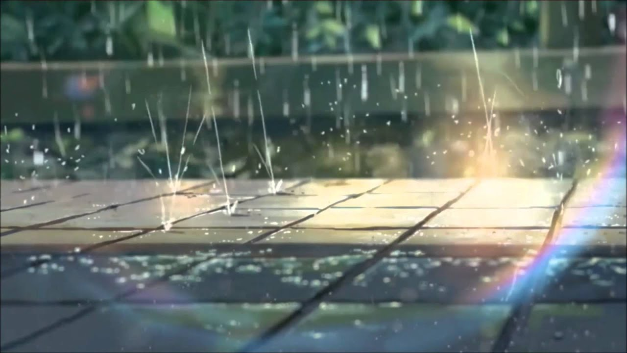 A Girl Sitting Alone Wallpapers Anime Rain Youtube