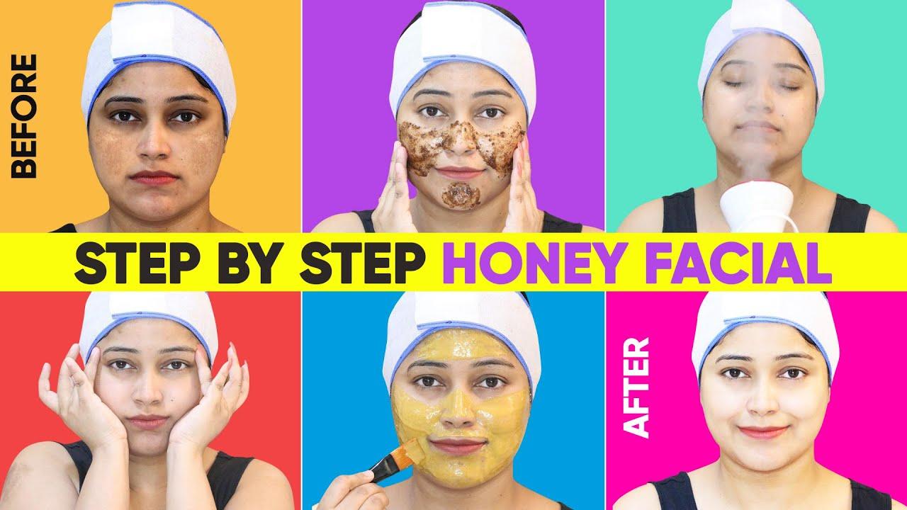 सिर्फ Honey से Facial😱एक बार घर पर ये फेशियल कर लो चेहरा चाँद सा चमक जाएगा Karwachauth & Diwali par❤